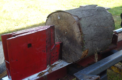 Log-Splitting-Machine-Prepering-To-Split-Log