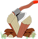 Mark's Log Splitting Service Logo