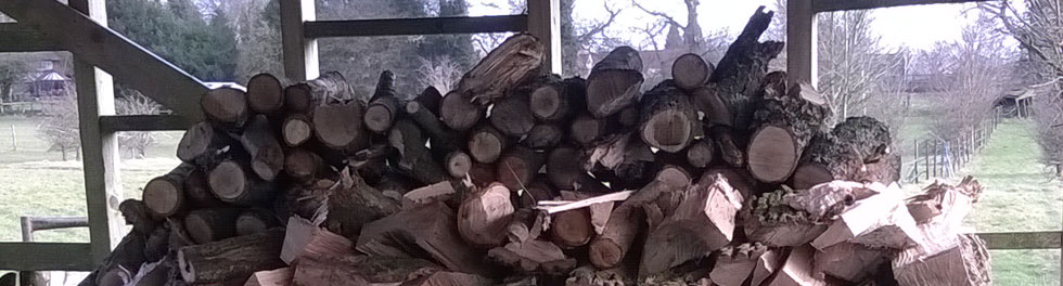 Split Log Pile Created With Marks Log Splitting Machine